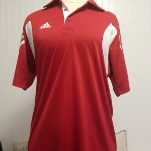adidas scorch mens s polo red white climacool